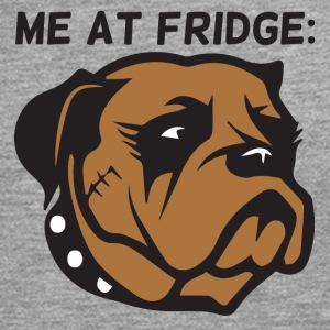 Dog / Boxer: Me At Fridge - Långärmad premium-T-shirt herr