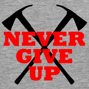 NEVER GIVE UP - Männer Premium Langarmshirt