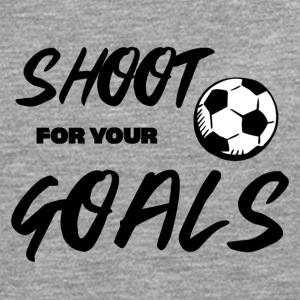 Fußball: Shoot for your Goals - Männer Premium Langarmshirt