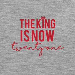 21. Geburtstag: The King is now twenty one - Männer Premium Langarmshirt