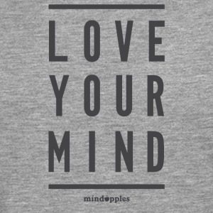 "Mindapples 'Love your mind ""merchandise - Mannen Premium shirt met lange mouwen"
