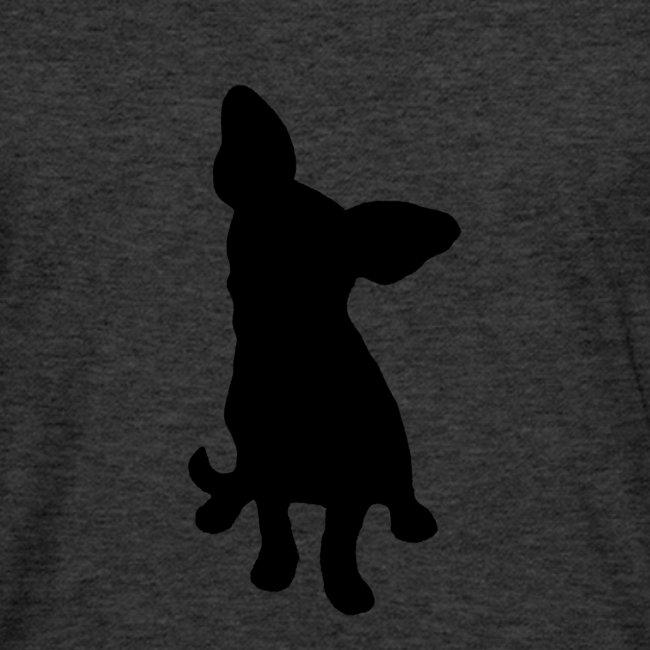 Chihuahua istuva musta
