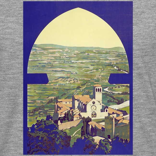 Tuscany vintage travel poster