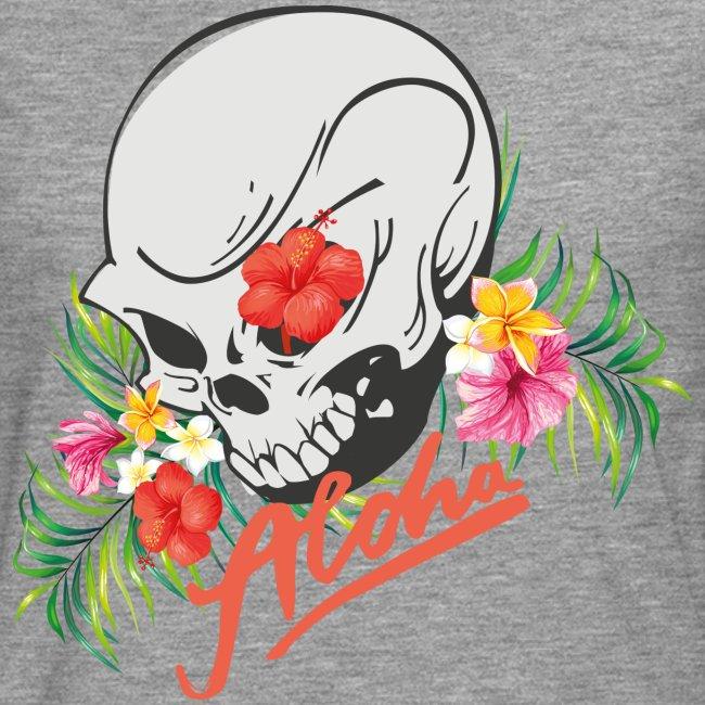 Hawaiian Skull Aloha Surfer Design