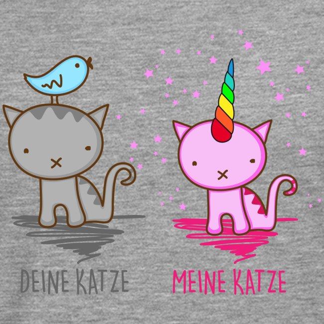 Vorschau: Deine Katze vs. Meine Katze - Männer Premium Langarmshirt