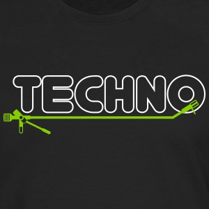 techno turntsble - Premium langermet T-skjorte for menn