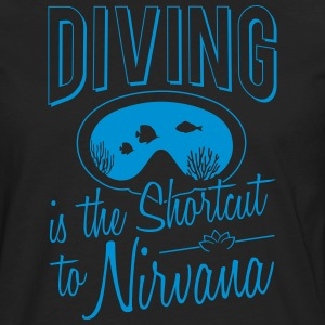 Diving is the shortcut to Nirvana - Men's Premium Longsleeve Shirt