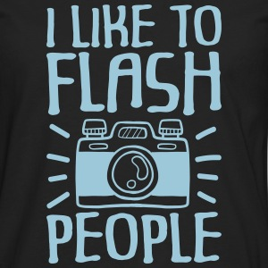 I Like to Flash People fotograaf - Mannen Premium shirt met lange mouwen