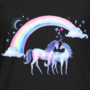 Unicorn couples in love - Men's Premium Longsleeve Shirt