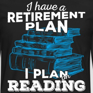 Retirement plan reading (light) - Men's Premium Longsleeve Shirt