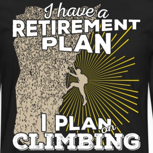 Retirement plan climbing (light) - Men's Premium Longsleeve Shirt