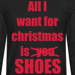 Christmas song saying shoes - Men's Premium Longsleeve Shirt