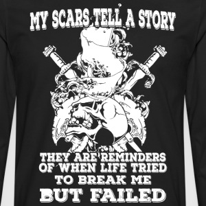 My scars tell a story (light) - Men's Premium Longsleeve Shirt