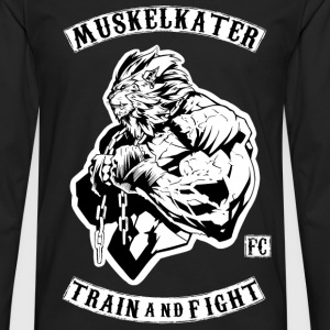 Muskelkater Fight Club - Train And Fight - Männer Premium Langarmshirt