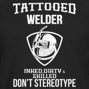 Tattooed welder - Men's Premium Longsleeve Shirt