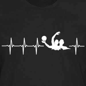 I love water polo (water polo heartbeat) - Men's Premium Longsleeve Shirt