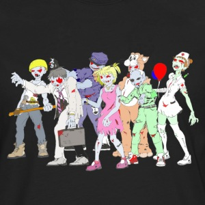 Zombie Collection: Zombie Party - Herre premium T-shirt med lange ærmer