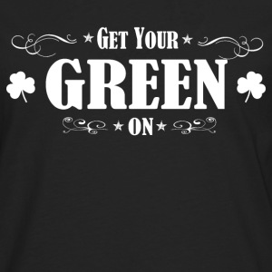 ST PATRICKS DAY IRISH GREEN ON - Männer Premium Langarmshirt