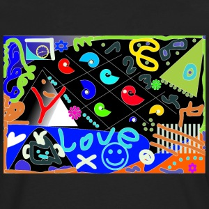 Love Pop Art design - Men's Premium Longsleeve Shirt