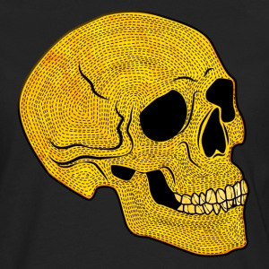 YellowSkull - Premium langermet T-skjorte for menn
