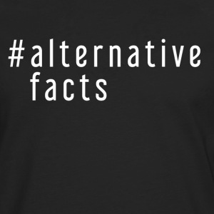 ALTERNATIVE FAKTA - Herre premium T-shirt med lange ærmer