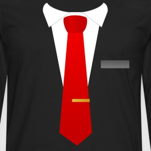 Red tie suit - Men's Premium Longsleeve Shirt