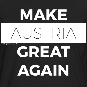 MAKE AUSTRIA GREAT AGAIN white - Men's Premium Longsleeve Shirt