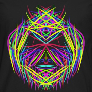 face trippy abstract psychedelic colorful - Men's Premium Longsleeve Shirt