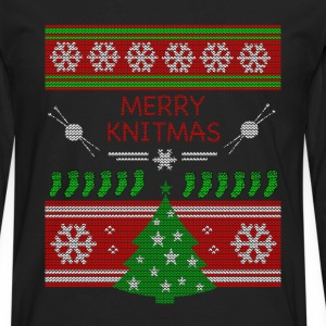 Merry Knitmas - T-shirt manches longues Premium Homme