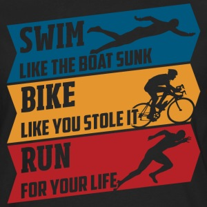 Swim - Bike - Run - Männer Premium Langarmshirt