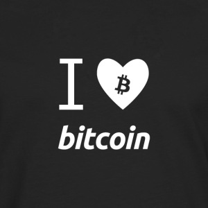 I love bitcoin - Men's Premium Longsleeve Shirt