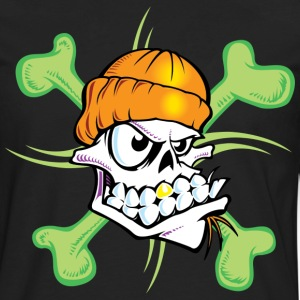Green Skull T Shirts - T-shirt manches longues Premium Homme