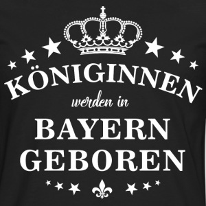 Queens are born in Bavaria - Men's Premium Longsleeve Shirt