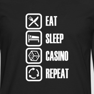 Eat Sleep Casino - Mannen Premium shirt met lange mouwen