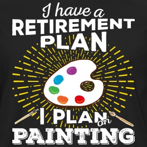 Retirement plan painting (light) - Men's Premium Longsleeve Shirt