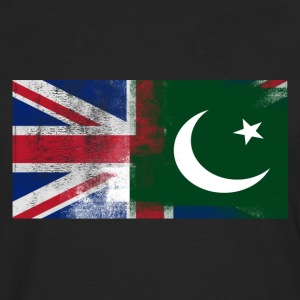 British Pakistani Half Pakistan Half UK Flag - Men's Premium Longsleeve Shirt
