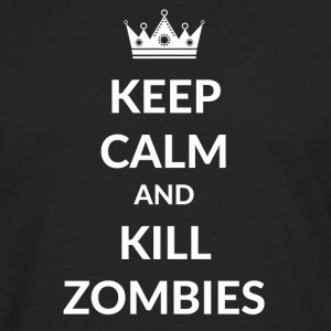 Stay calm and kill zombies - Men's Premium Longsleeve Shirt