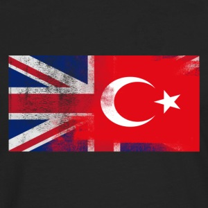 British tyrkisk Tyrkia Half Half UK Flag - Premium langermet T-skjorte for menn