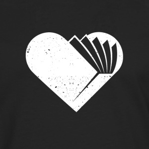 A heart for books - Men's Premium Longsleeve Shirt