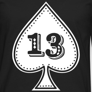 As de picas con número 13 - Rock and roll hip hop - Camiseta de manga larga premium hombre