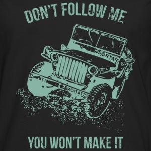 Follow Me Jeep Car - Männer Premium Langarmshirt