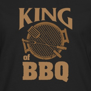 King of BBQ - Premium langermet T-skjorte for menn