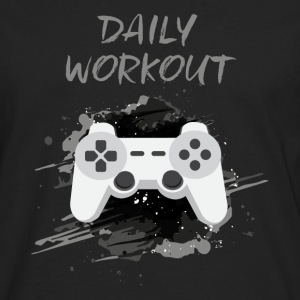 Video Game! Daily Workout! - Mannen Premium shirt met lange mouwen