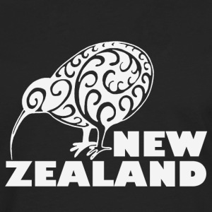New Zealand: Kiwi with lettering in white - Men's Premium Longsleeve Shirt