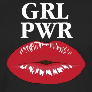 GRL PWR Girl Power Kiss T-Shirt - Männer Premium Langarmshirt
