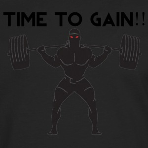 TIME TO GAIN! by @onlybodygains - Men's Premium Longsleeve Shirt
