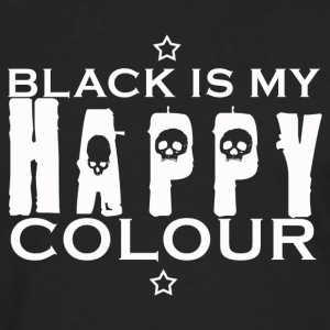 Black is my happy colour - Långärmad premium-T-shirt herr