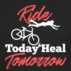 Ride Bicycle Today Heal Demain - T-shirt manches longues Premium Homme