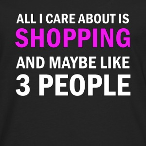 All I Care About is Shopping - Långärmad premium-T-shirt herr