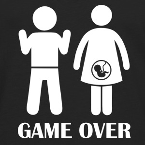 GAME OVER Pregnant - Men's Premium Longsleeve Shirt